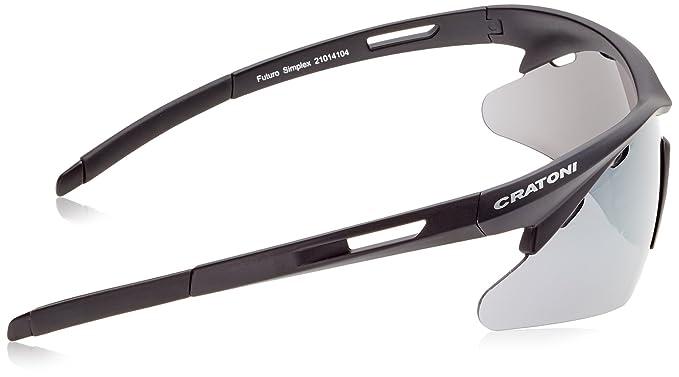 Cratoni Fahrradbrille Futuro Simplex, White Silver Matt, One size, 21014104