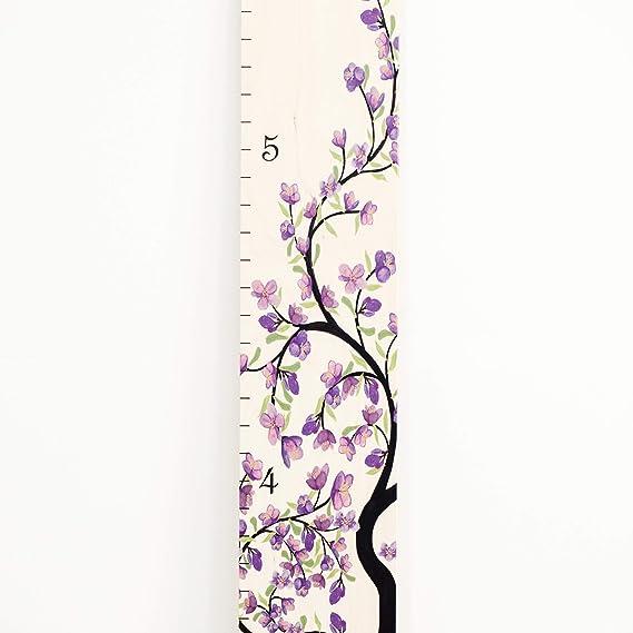 Growth Chart Art Wooden Growth Chart Girls Measuring Kids Height