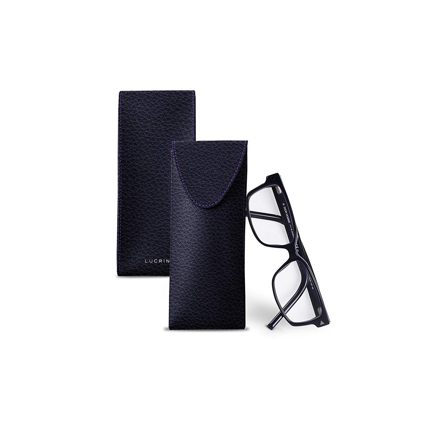 Case for glasses Lucrin Granulated Leather