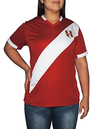 Ama Quella Crafts Peru Soccer Jersey Replica for Women, White Or Red. Russia World