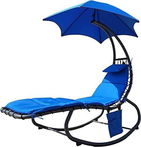 BalanceFrom Hanging Rocking Curved Chaise Lounge Chair Swing