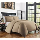 Zen Bamboo Ultra Soft 3-Piece Bamboo Derived Rayon Duvet Cover Set -Hypoallergenic and Wrinkle Resistant - King/Cal King - Taupe