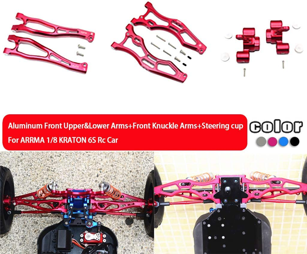 Hot Racing AON09RR01 Aluminum Rear Lower Rear Suspension Arm Mount Arrma 1//8