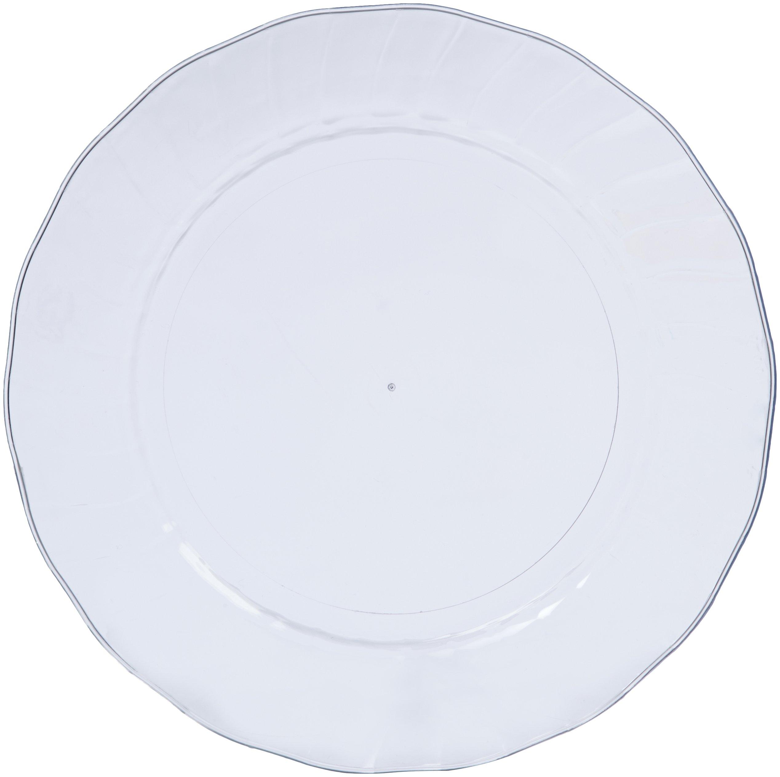 AmazonBasics Disposable Plastic Plates - 100-Pack, 7.5-inch by AmazonBasics (Image #2)
