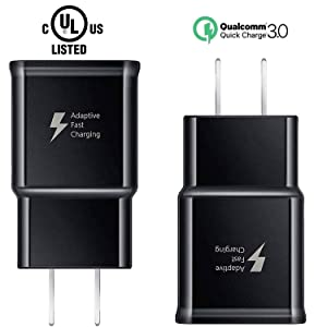 Samsung Fast Chargers Adaptive Fast Charging for Samsung Wall Charger Adapter Compatible with Samsung Galaxy S10 S10+ Plus S9 S9 Plus S8 S8 Plus Note 9 Note 8 S7 Edge S6 Edge Note 5 (2 Pack)