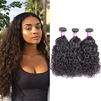 8a Djs Beauty 3 Indian Virgin Hair Kinky Curly Bundles With Middle Part 4*4 Lace Closure Natural Color Free Shipping High Quality Materials Salon Bundle Pack Salon Hair Supply Chain