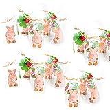 10 kleine Glücks-Schweinchen VIEL GLÜCK rosa-rot Glücksbringer Mini Geschenk Talisman give-way Hochzeit Kinder-Geburtstag Neujahr Silvester Tisch-deko Mitgebsel Gastgeschenk Feier