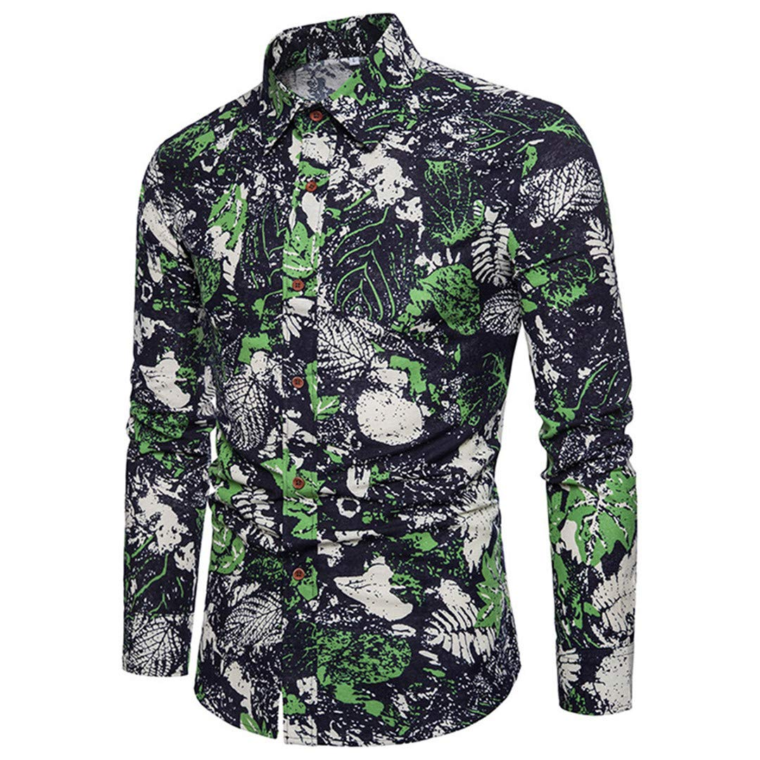 b5001bc9188 ... Black CA Taozhaung Spring Casual Long Sleeve Sleeve Sleeve Shirt  Business Slim Bohemian Men Blouse Top ...
