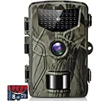 SUNTEKCAM Cámara de Caza Nocturna 36MP 2.7K con Detección de Acción Camara Fototrampeo Caza con 28pcs LED Negro…