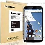 Nexus 6 Protection écran, iVoler® Film Protection d'écran en Verre Trempé Glass Screen Protector Vitre Tempered pour Motorola Google Nexus 6- Dureté 9H, Ultra-mince 0.20 mm, 2.5D Bords Arrondis- Anti-rayure, Anti-traces de doigts,Haute-réponse, Haute transparence- Garantie de Remplacement de 18 Mois