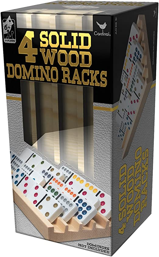 Amazon.com: Solid Wood Domino Racks - 4 Pack: Toys & Games
