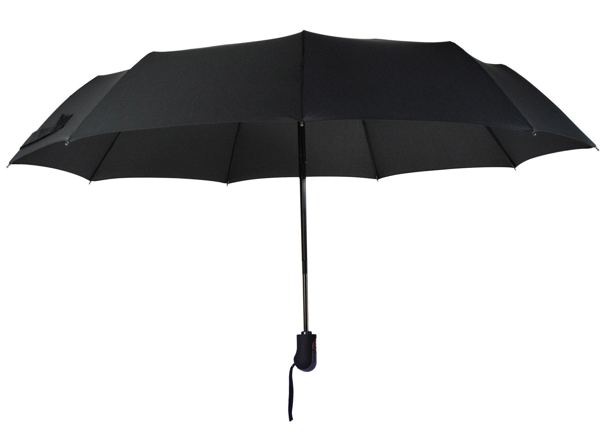 Umenice Auto Open And Closed travel umbrella 9 Ribs Black by Umenice (Image #3)