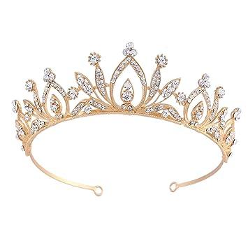Crystal Rhinestone Crown Sparkling Tiara Wedding Party Bride Prom Hair Headband