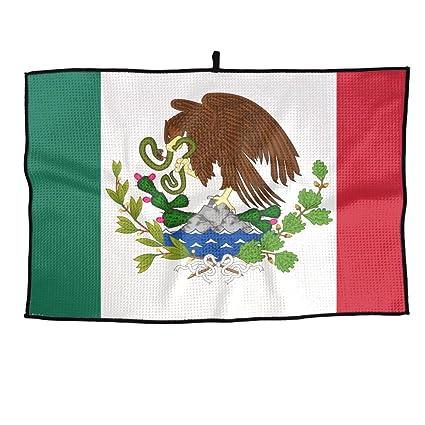 Game Life Toalla de Golf Personalizada con la Bandera de México, Toalla de Microfibra para
