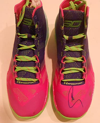 b2891cbb5032 Stephen Curry Golden State Warriors Signed Under Armour Shoe With- JSA  Authentic Y70887