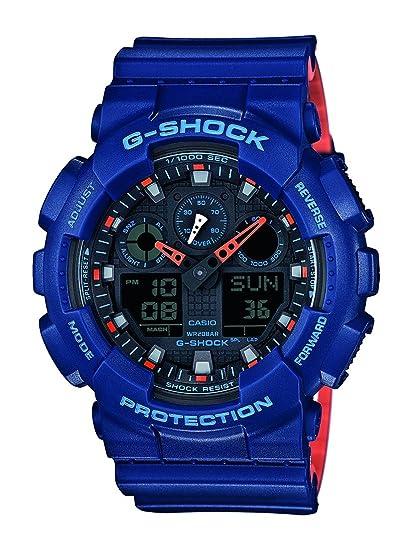 Casio Reloj Analógico-Digital para Hombre de Cuarzo con Correa en Resina GA-100L-2AER: Amazon.es: Relojes