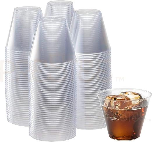 Amazon.com: Vasos de plástico transparente de 9 oz, vasos ...
