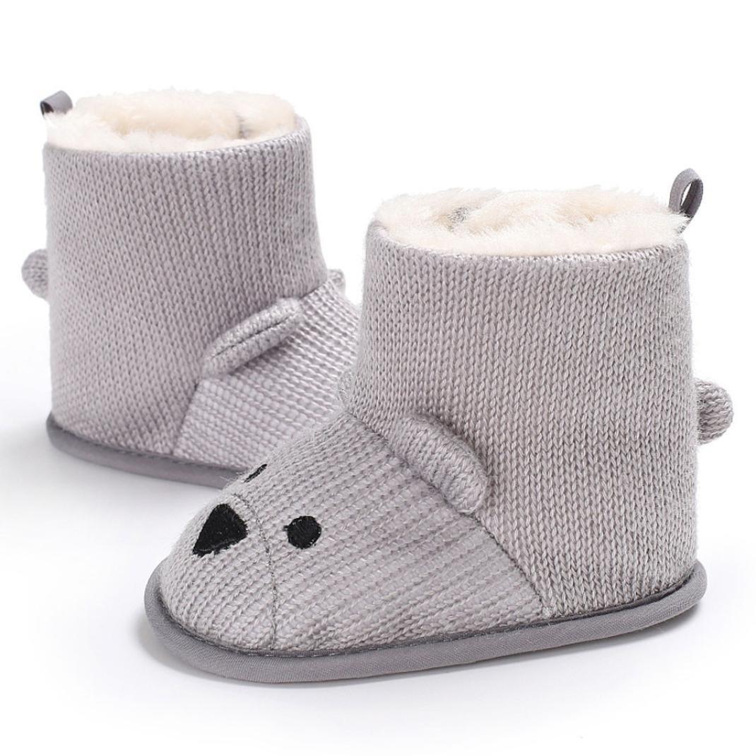 Sunward Baby Toddler Infant Girls Boys Soft Sole Snow Boots Prewalker Crib Shoes