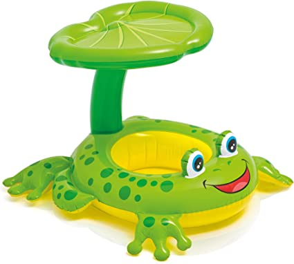 Amazon.com: Juguete flotador para bebé de rana Intex ...