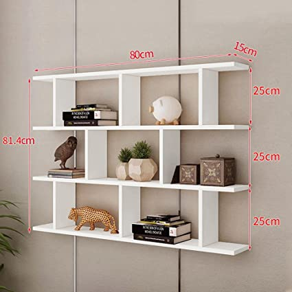 WAN SAN QIAN Creative Wall Mount Bookshelf Living Room Modern Simple Cabinet