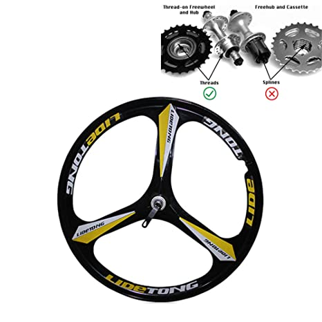 356e86ae75e JARONOON MTB Rim 24/26 Inch Mountain Bike Wheels 3 Spokes Magnesium  Aluminum Alloy Bicycle