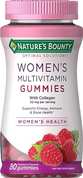de las mujeres de multivitaminas Gomitas, con sabor a frambuesa, 80 Gummies - Obsequio de la Naturaleza: Amazon.es: Salud y cuidado personal