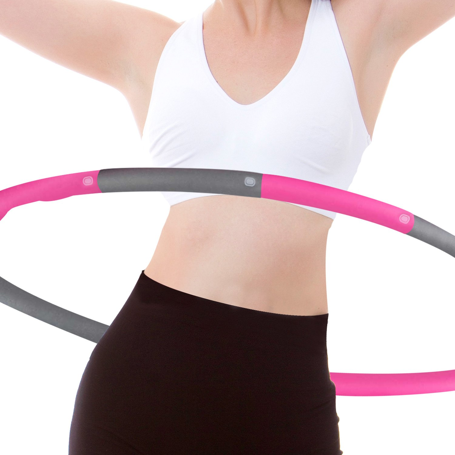 Rioa Fitness Exercise Hula Hoop 2 Pound Weighted Hula Hoop Perfect for Dancing Hot Fitness Workouts and Simply The Funnest Way to Lose Weight Easy to Use Exercise Hoop Fun Easy Way to Workout by Rioa
