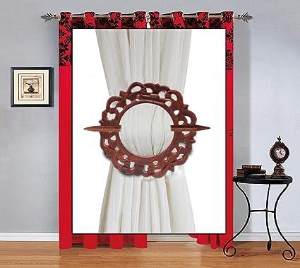Tieback de cortina de madera, soporte de cortina, retenciones de forma redonda con trabajo