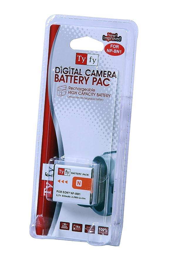 Tyfy NP BN1  Sony  Battery  630 mah  Camera Batteries