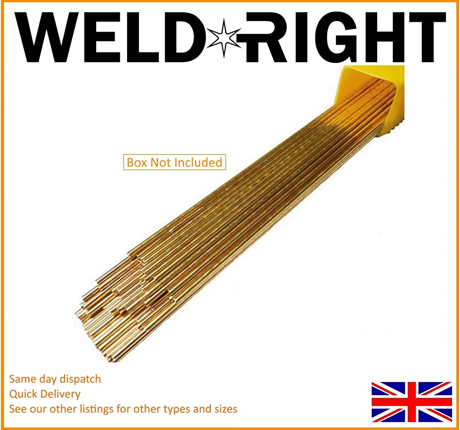 300mm Weld Right Sifbronze No 1 Brazing Welding Rods 1.6mm x 50 Rods