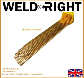** SIF Flux Coated Brazing Rods 1.6mm x 300mm 9 off ** General Purpose **