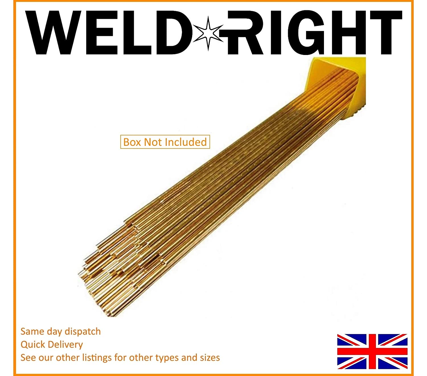 Weld Right - Sifbronze No. 1 Brazing Welding Rods 1.6mm x 20 Rods (300mm)