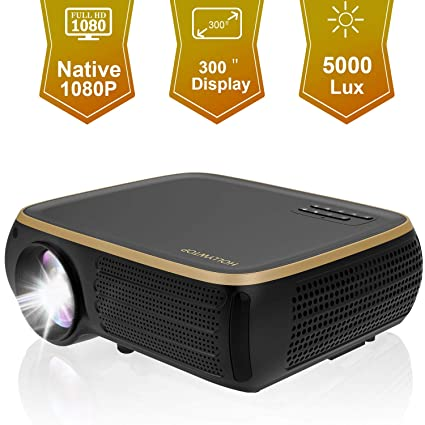 Amazon.com: HOLLYWTOP M8 Native 1080P Full HD Proyector LED ...