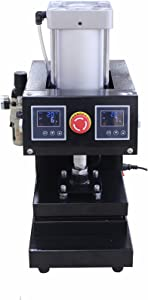 "8"" x 6"" Pneumatic Heat Press Dual Element Heating, solventless with free pneumatic""quick connect fitting"""