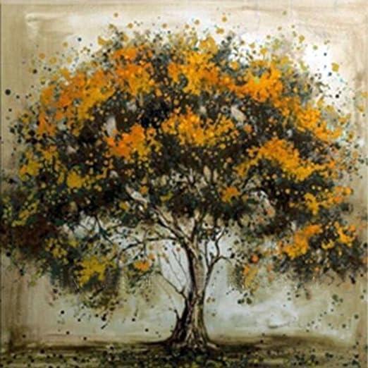 Verschonern Wohnzimmer Malerei | Igemy Orangenbaum Olgemalde Wand Dekor Europaischer Moderner Stil