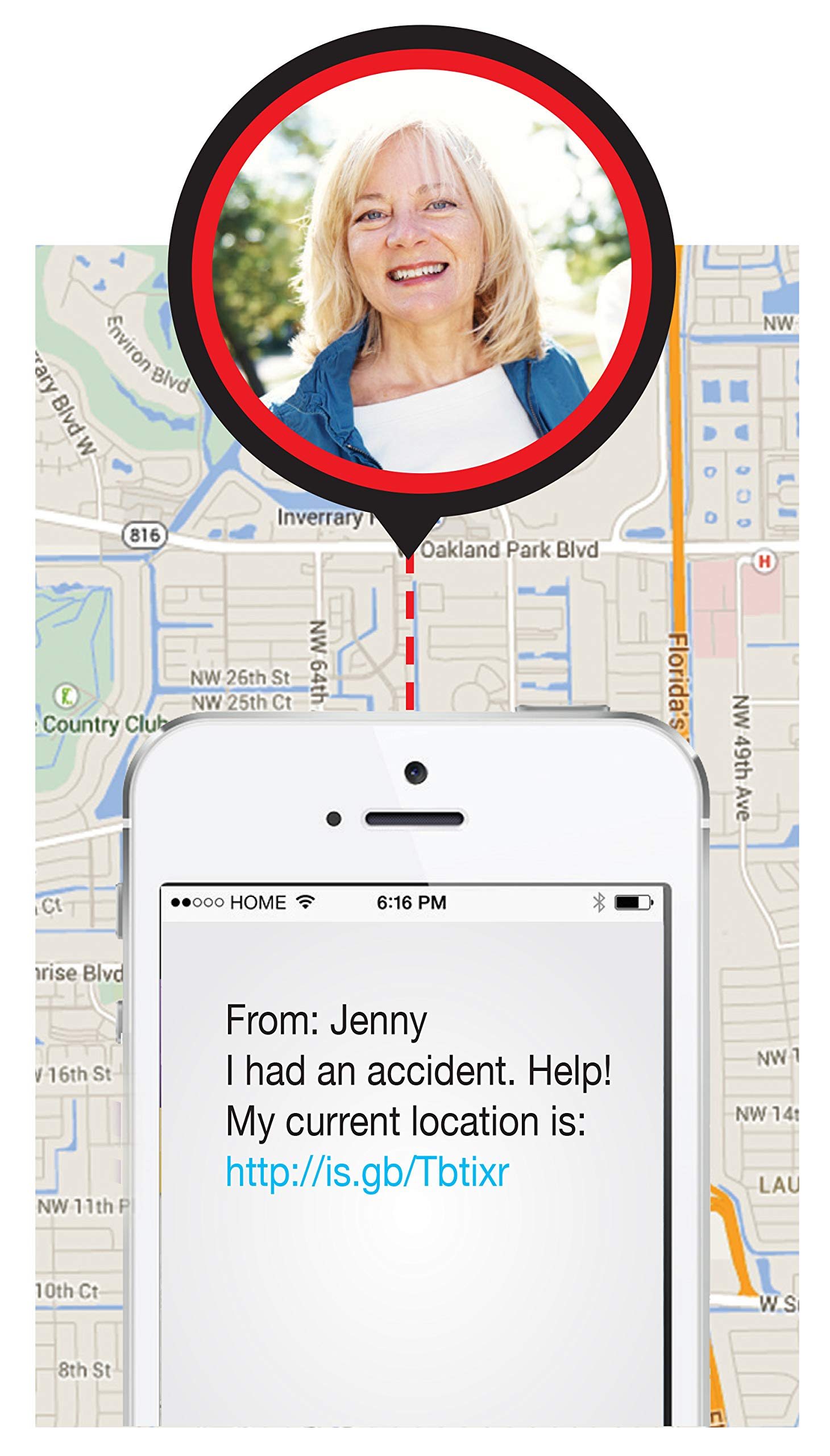 Help Now Alert Personal Emergency Response Device Button with No Monthly Fees