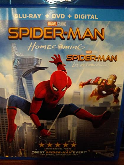 Spider-Man: Homecoming DVD quality Blu Ray, invalid digital download