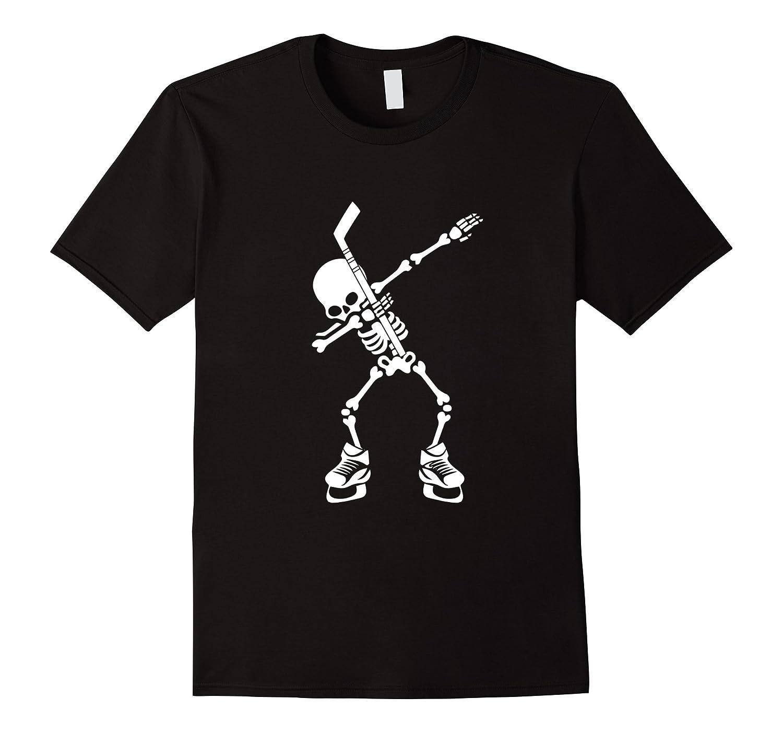 Hockey Skeleton Dabbing Halloween Dab Dance T-Shirt-T-Shirt