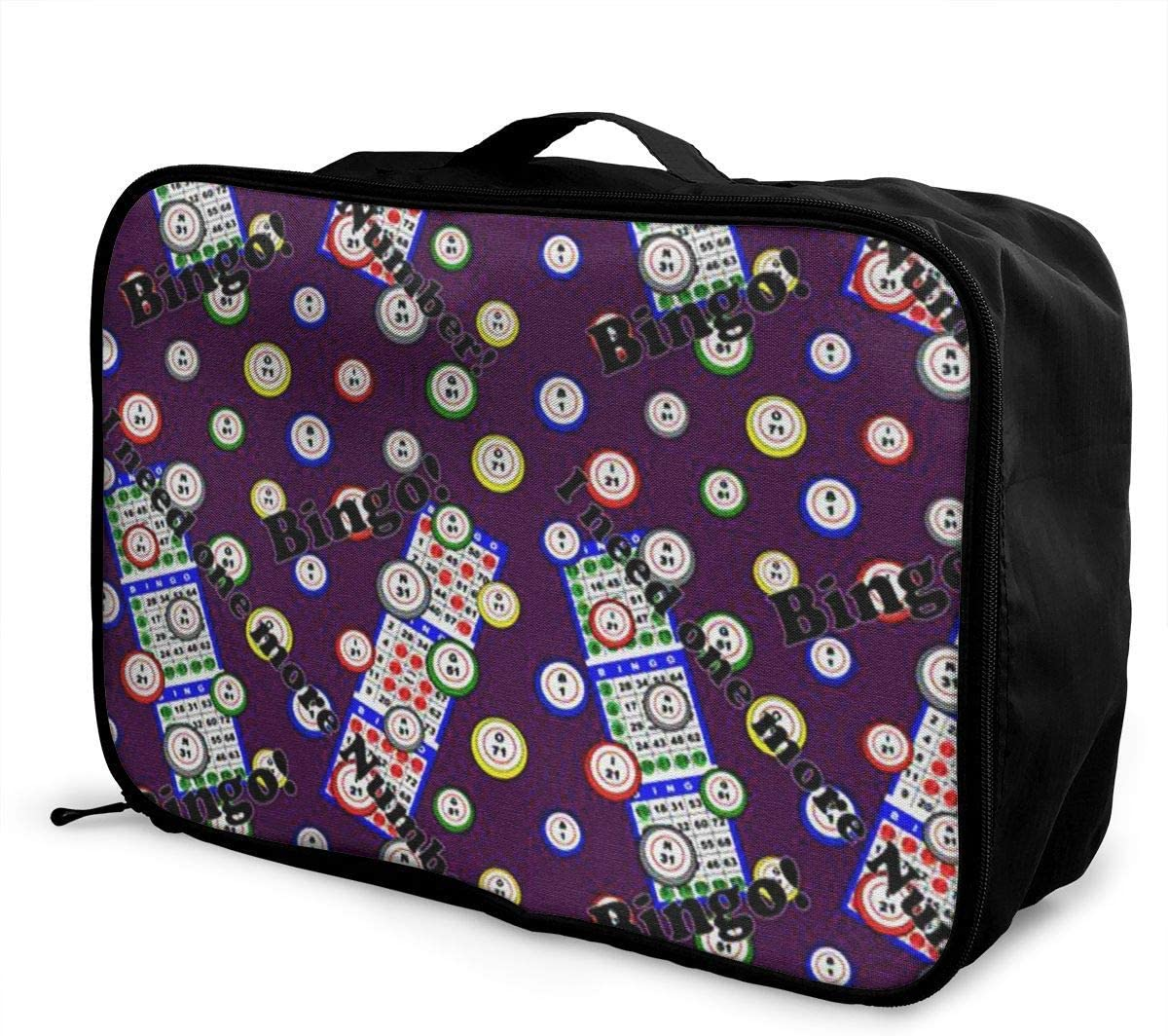 Portable Luggage Duffel Bag Bingo I Need One More Numbe Travel Bags Carry-on in Trolley Handle