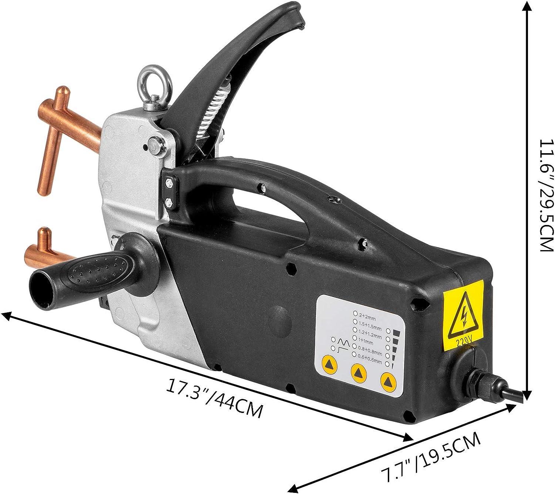 Mophorn 230V 2.0 120MM Conseils rempla/çables 20 secondes A 2.0MM Poign/ée de pistolet /électrique de soudage par points 230V 70Db