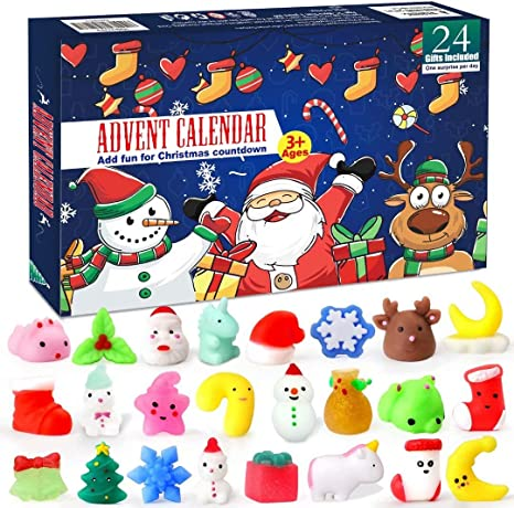 xinge Easter Advent Calendar 9 Days Countdown Calendar Including 27 Cute Erasers Puzzle Animal Miniature Surprise Toys School Supplies Anxiety Toys for Kids Party Favor Erasers-1