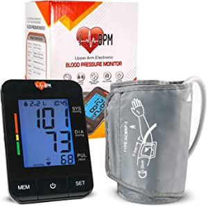 Blood Pressure Monitor Upper Arm (Smart Pressurized Tech), with 8-13