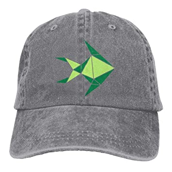 No Soy Como Tu Gorras béisbol Green Fish Denim Hat Adjustable ...