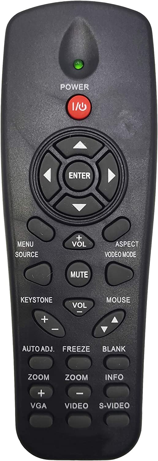 INTECHING R1R02 Projector Remote Control for Dell 1210S, 1410X, 1510X, 1610HD, S320, S320wi