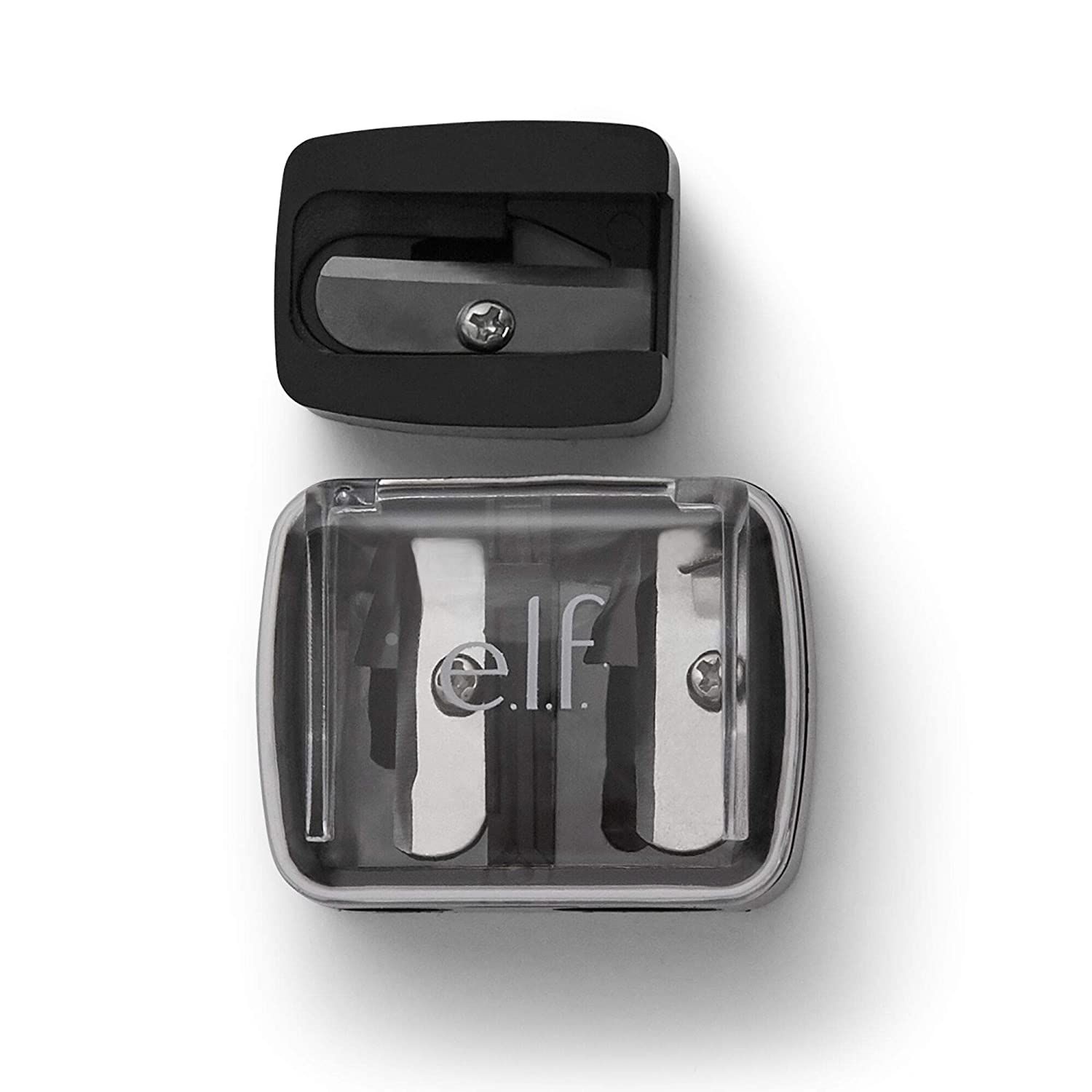 e.l.f, Dual-Pencil Sharpener, Convenient, Essential Tool, Sharpens, Easy To Clean, Travel-Friendly, Compact : Beauty