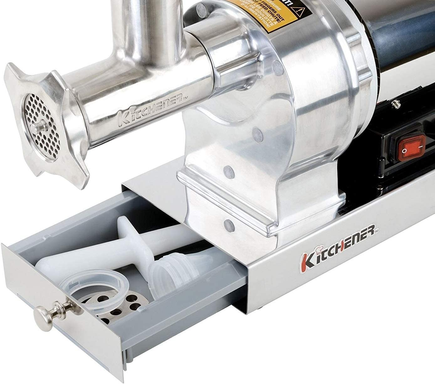 Heavy Duty Commercial Grade Electric Stainless Steel High HP Meat Grinder Kitchener #8 480lbs//Hour