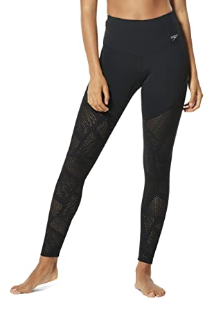 Speedo Precision Pleat High Waist Legging Traje de baño de ...
