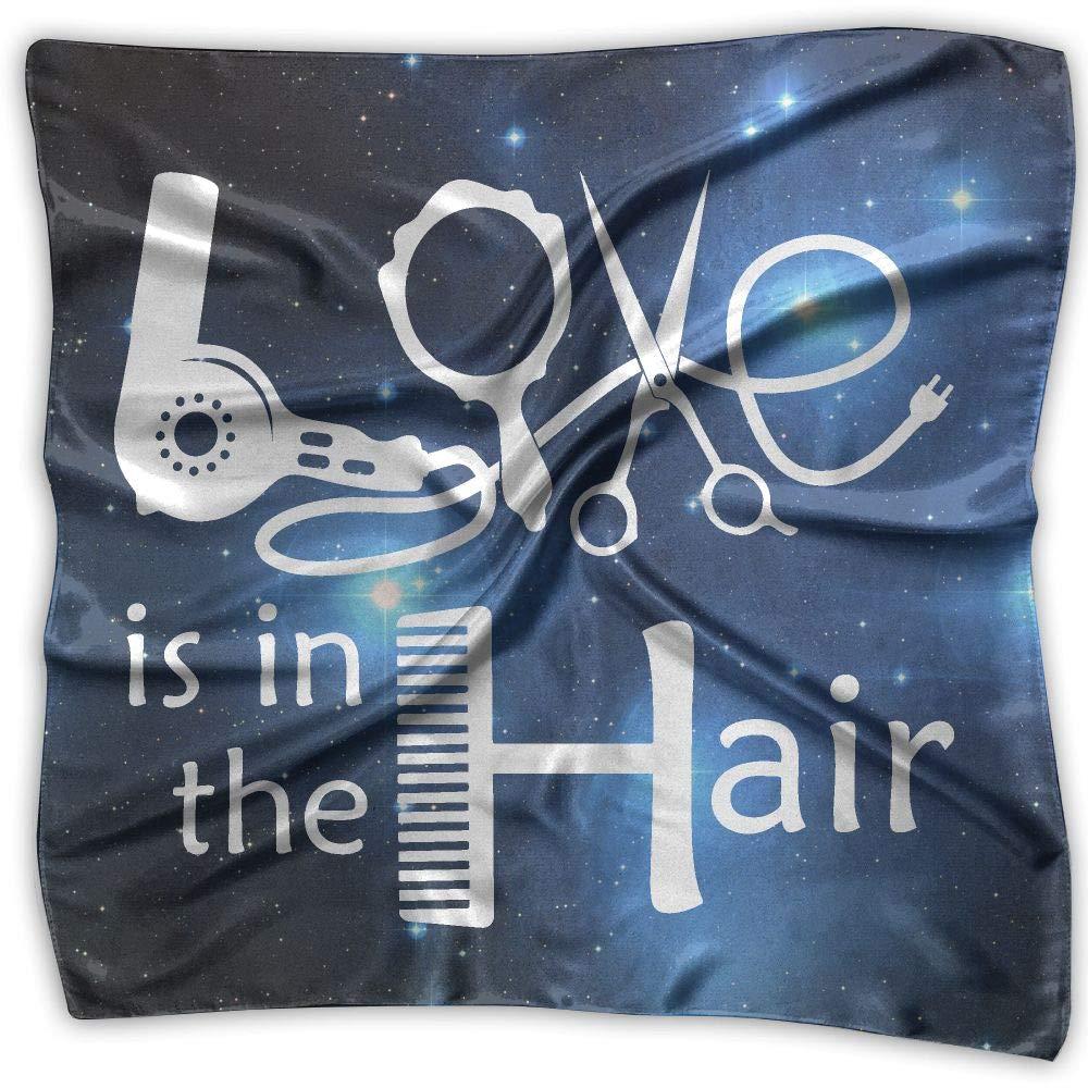Love In Hair Hairdresser-1 Unisex Silky Scarf Headband Bandana Scarves Set