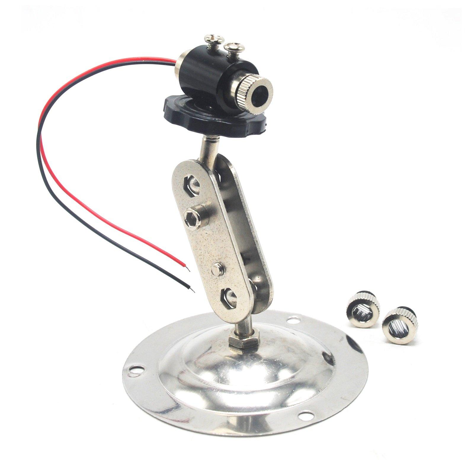 3in1 Dot Line Cross 405nm 5mW Violet-Blue Focusable Laser Diode Module + 12mm Adjusted Holder Heatsink