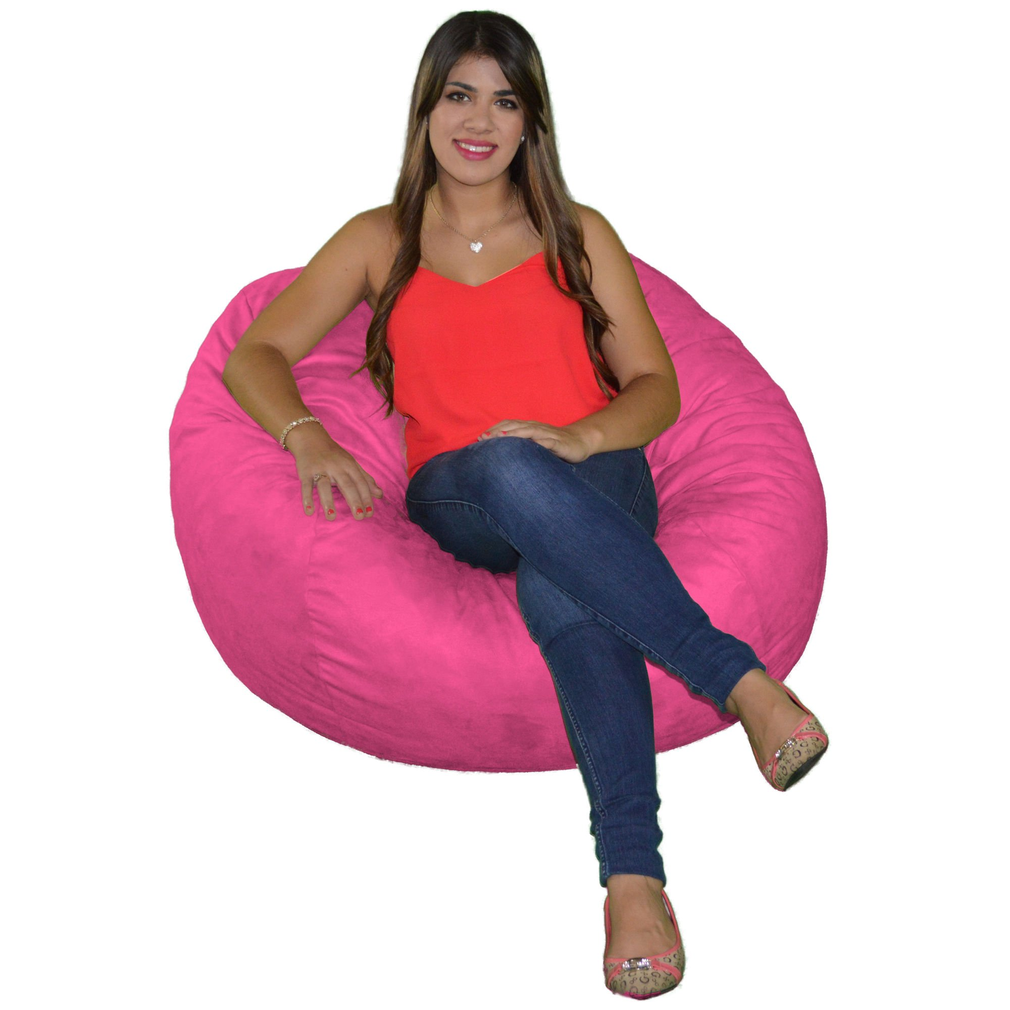 Cozy Sack, , Small Cozy Foam Bean Bag Chair, HOTPINK by Cozy Sack